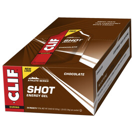 CLIF Bar Shot Gel Sport Ernæring Chocolate 24x34g farverig